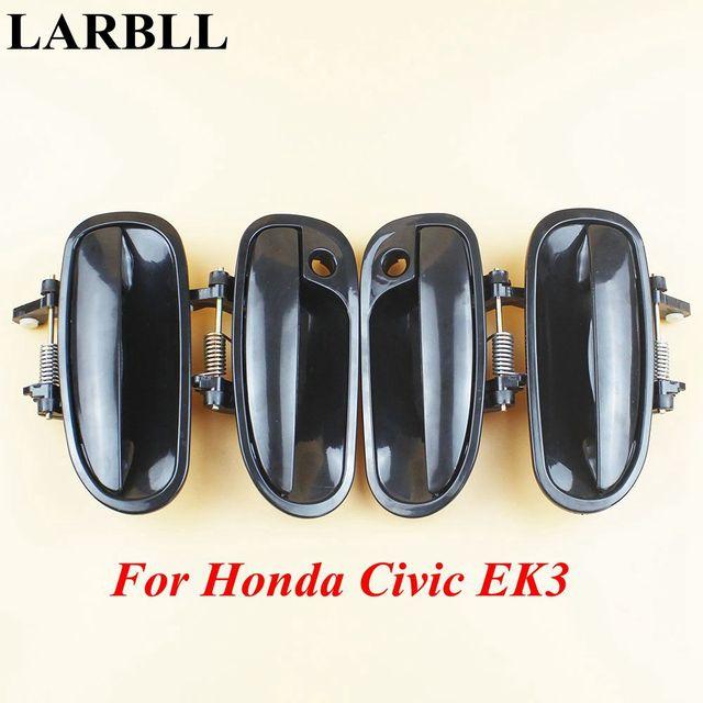 Accesorios para coche larll parte delantera trasera izquierda derecha negro Exterior manija de la puerta ajuste para Honda Civic EK3 1996-2000