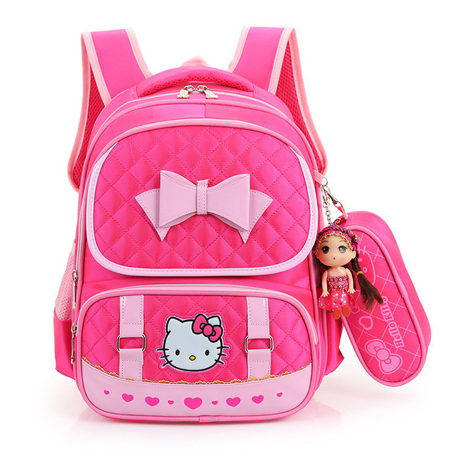 1818a2a21889 Hello Kitty Anime Printing Children School Bags For Girls Kids Schoolbag  Cartoon Little Kids School Backpacks