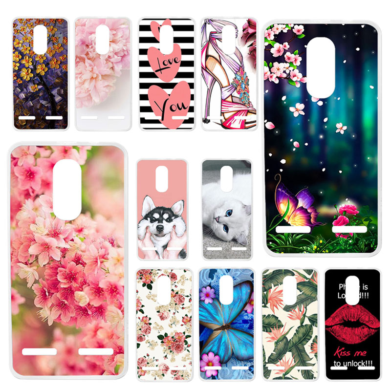 TAOYUNXI Cases For Lenovo K6 Case For Lenovo K6 Power K33a42 k33a48 5.0 inch Soft Silicone Back Covers Painted Bags Skins Shells
