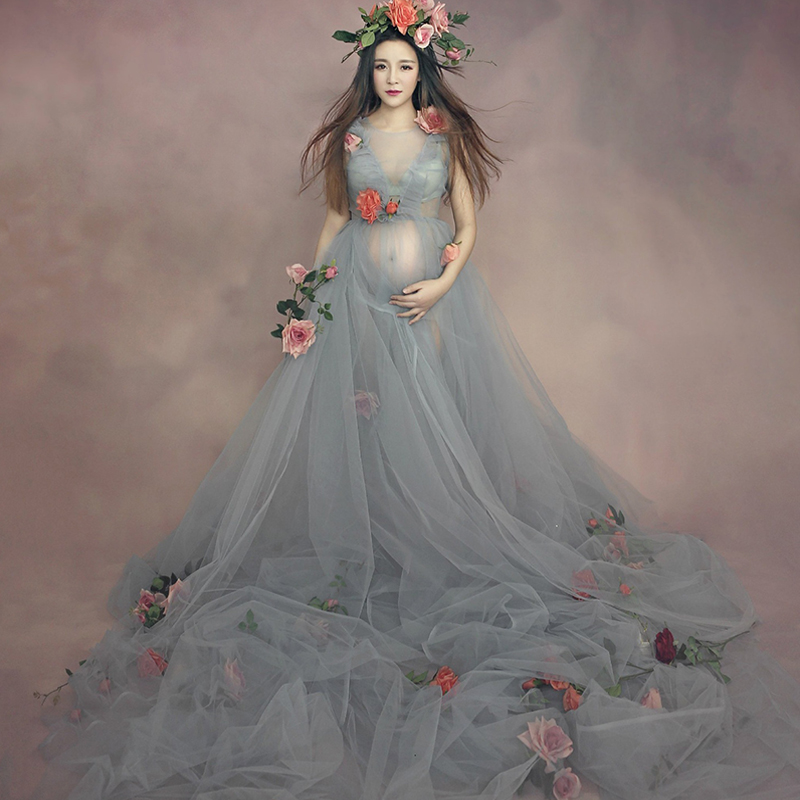 Maternity Dress Photo Shoot Maxi Maternity Gown Pregnancy Photo Shoot Women Maternity Dress For Pregnant Women Y917