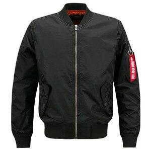 Image 1 - 새로운 망 캐주얼 재킷 육군 군사 비행 파일럿 폭격기 재킷 망 봄 가을 겉옷 군사 재킷 큰 크기 8xl jk103