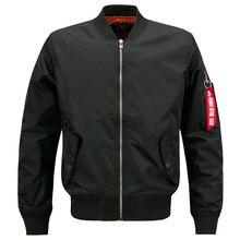 Nueva chaqueta Casual para hombre ejército militar vuelo piloto bombardero chaquetas para hombre primavera otoño chaqueta militar talla grande 8xl JK103