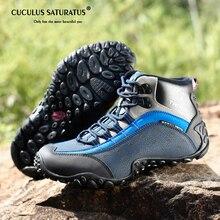 Scarpe Da Trekking impermeabili Per Gli Uomini della Pelle Scamosciata Scarpe  da Arrampicata In Montagna di c3110ae4c4d