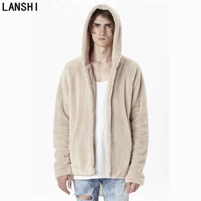 LANSHI 2017 new man autumn winter oversize cardigan unisex men ...