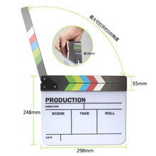 Magnets Acrylic Clapperboard TV Movie Film Clapper Board Director Video Scene Action Slate Clap Cut Prop Clapperboard