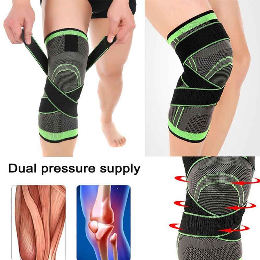HEYME Knee Brace Compression Knee Sleeve with Adjustable Strap for Pain Relief Meniscus Tear Arthritis Bone Care AHEYME Knee Brace Compression Knee Sleeve with Adjustable Strap for Pain Relief Meniscus Tear Arthritis Bone Care A