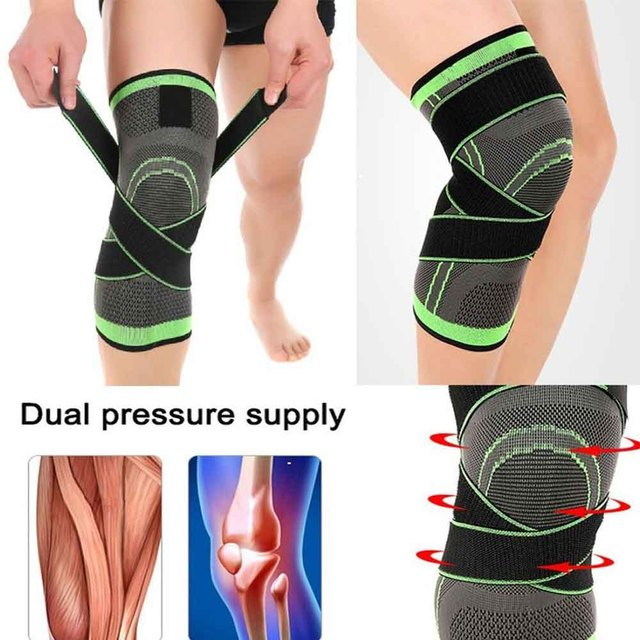 7732cd6f62 HEYME Knee Brace Compression Knee Sleeve with Adjustable Strap for Pain  Relief Meniscus Tear Arthritis Bone Care A