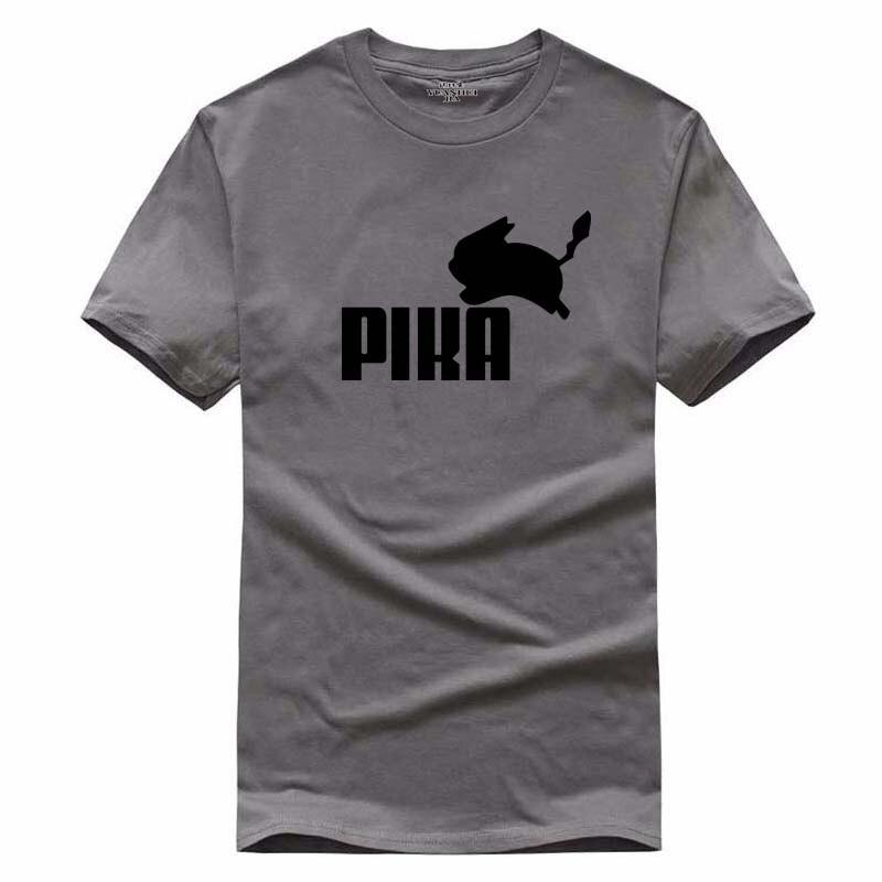 2017 New Print T Shirt Mens Pokemon Pika Comic Con Cosplay T-shirts Summer Skateboard Tee Boy Skate Tshirt Tops