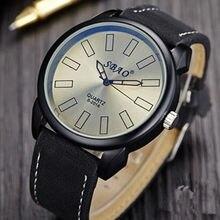 Nuevo diseño de los hombres de cuero de moda deportes reloj de cuarzo para hombre cronógrafo relojes de pulsera de los hombres del ejército militar estilo del envío libre regalo