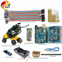 Official DOIT 1 Set Bluetooth Control 3 Road Infrared Obstacle Avoidance Controller Kit For Robot Tank