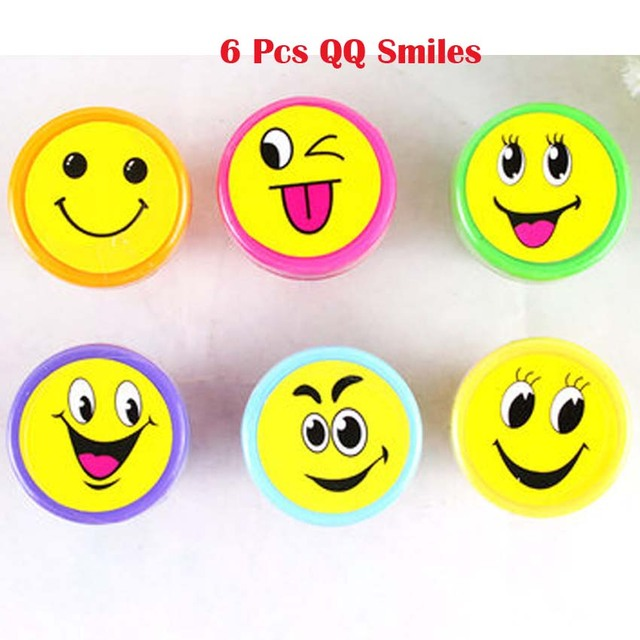 6 Pcs QQ Smiles