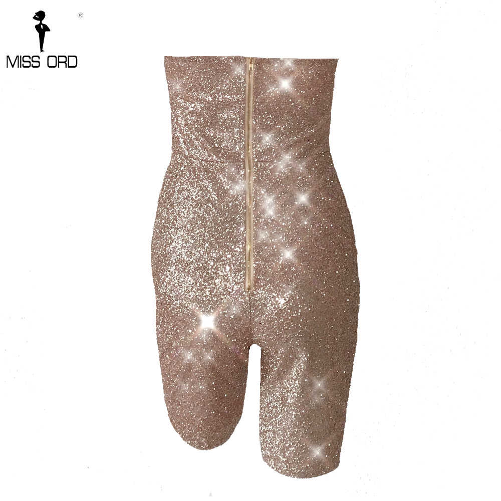 Missord 2019 для женщин пикантные с открытыми плечами комбинезоны для девочек Блеск День Рождения Romepers вечерние Спинки женские элегантные вечерние Playusit  FT18635