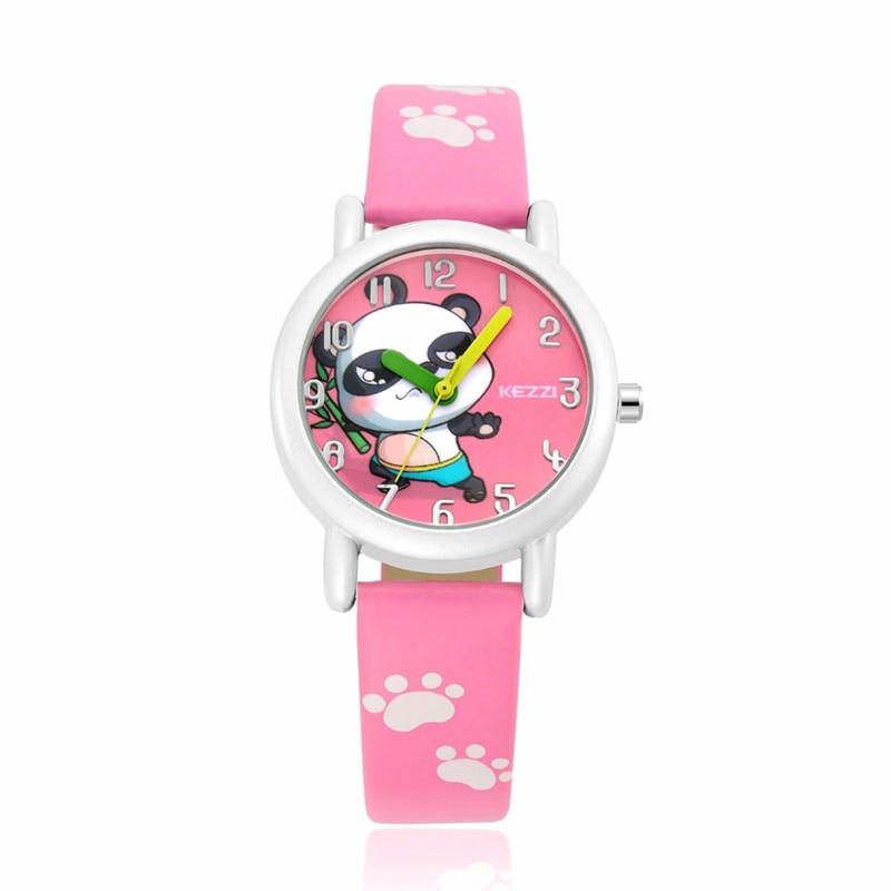 Modes jaunā zīmola skatīties zēns meitene Bērnu pulksteņi Panda Dial Quartz Rokas pulkstenis Kids Pulkstenis Taimera pulkstenis Baby bayan kol saati