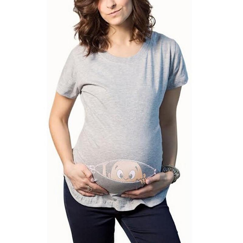 ffe1fd8ff Gravida blousing Loose fit ropa cómoda Maternidad camiseta mujer embarazada  Tops o cuello embarazo Camisetas largas en Camisetas Tees de Mamá y bebé en  ...