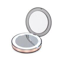 Светодиодный освещенные косметическое мини-зеркало 3X увеличительное компактный Портативный зондирования освещения зеркало для макияжа ...