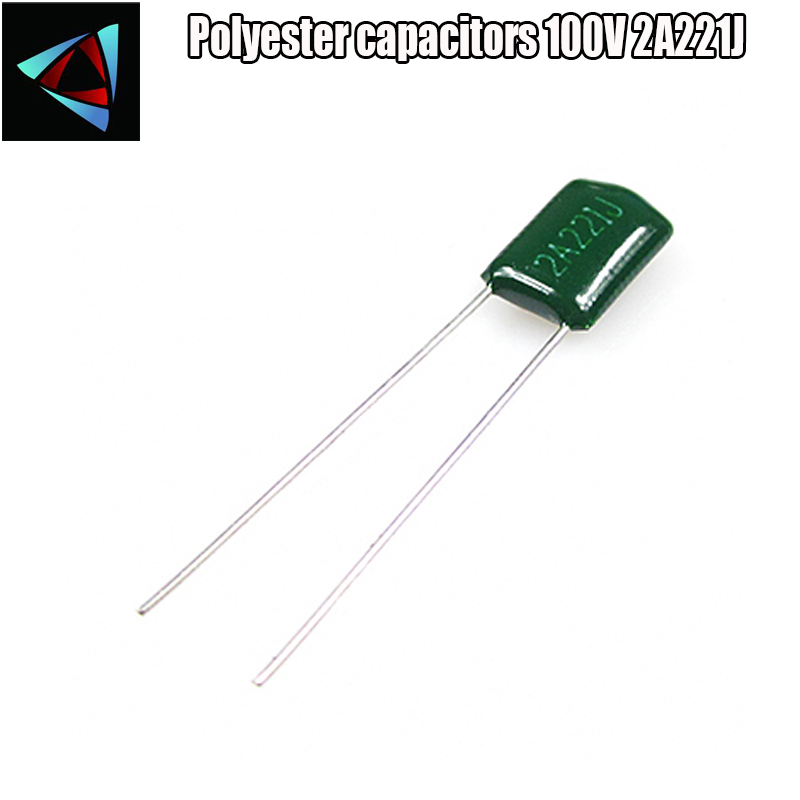 30pcs Polyester Film Capacitor  2A221J 100V 220pF 0.22nF