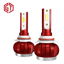 Guangji Car LED Headlight Bulbs LED H4 H7 H1 9005 9006 H11 36W 8000LM 6000K 12V 24V Headlamp COB Fog Light Bulb цена в Москве и Питере