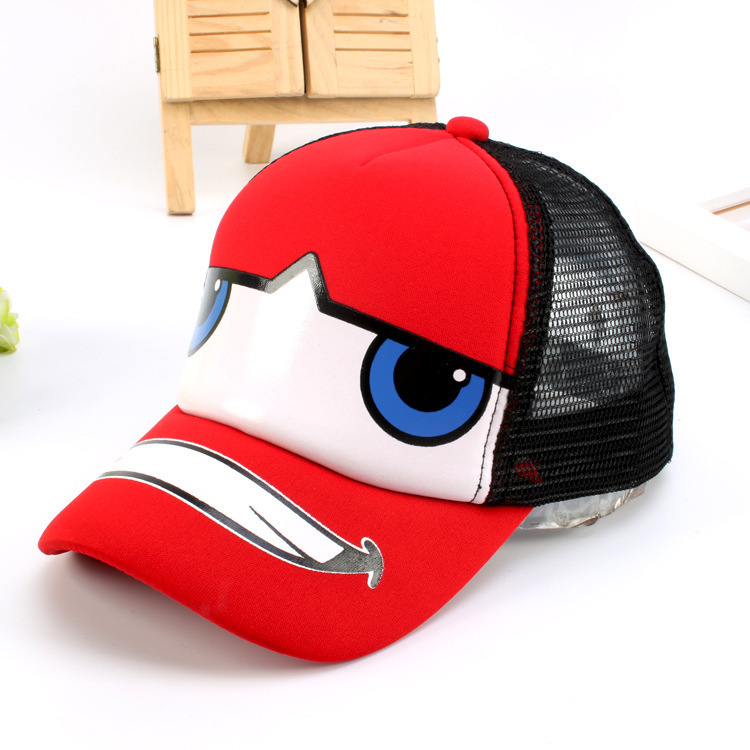 Children Baseball Cap Summer Cartoon Car Cap Kids Hip Hop Sun Hat Boys Girls Snapback Mesh Caps For 3-6 Years Old summer can be folded anti uv sun hat sun protection for children to cover the sun with a large cap on the beach bike travel