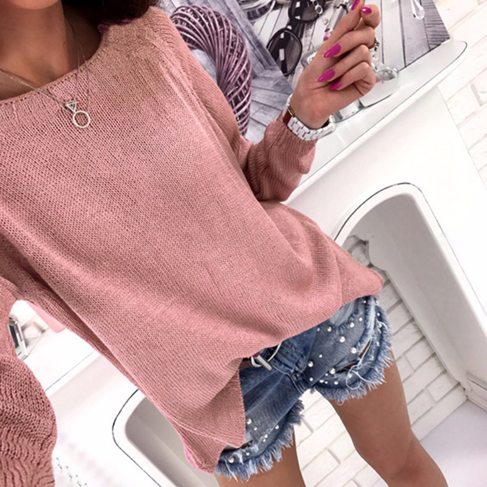 2017 Fashion Casual Long Sleeves Knitwear Back Zippers Women Cardigan Solid O Neck Knitting Sweaters Causal Woman Top
