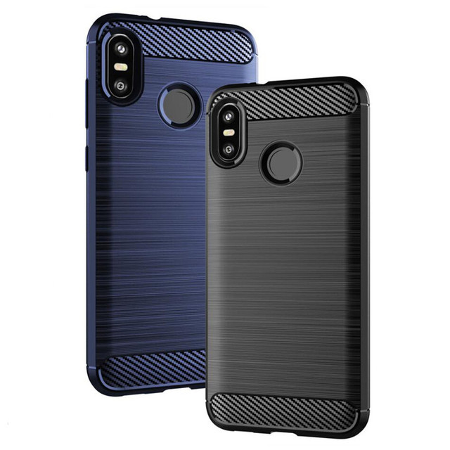 super popular 4fb65 894cd US $124.45 5% OFF|For HTC U12 Life Plus Carbon Fiber Rugged Armor Case For  HTC Desire 12 Plus Brushed Texture Slim Hybrid Silicone TPU Back Cover -in  ...