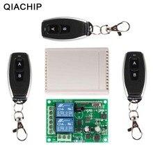 QIACHIP 433 Mhz uniwersalny bezprzewodowy pilot zdalnego sterowania przełącznik AC 250 V 110 V RF przekaźnik moduł odbiornika + 3 szt RF 433 Mhz pilot