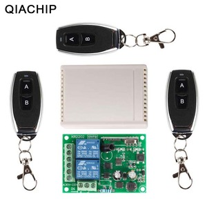 Image 1 - QIACHIP 433Mhz Universal Wireless Remote Control Switch AC 250V 110V RF Relay Receiver Module + 3pcs RF 433Mhz Remote Controller