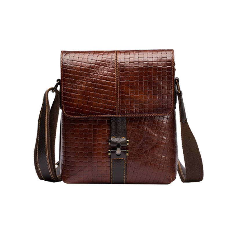 Top Quality Men Oil Wax Genuine leather Vintage Style Crossbody Shoulder Messenger First Layer Cowhide Business Tablet PC Bags yicob men messenger bags 100% genuine cow leather shoulder bag first layer cowhide crossbody bag oil wax real leather handbags