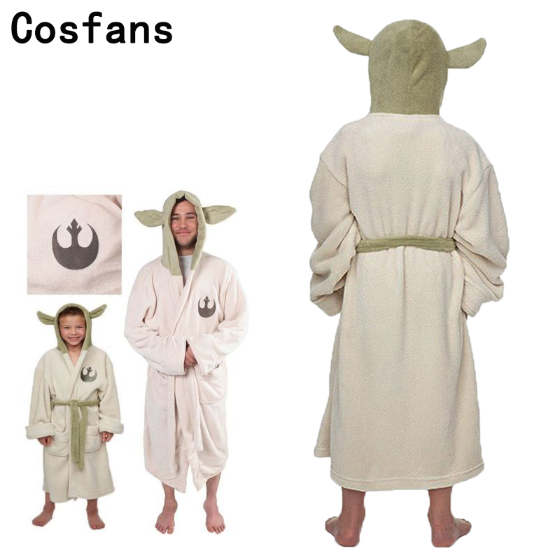 7ffd49bc75 Detail Feedback Questions about Free Shipping Star Wars Lucasfilm Yoda Robe  Cosplay Costume Jedi Fleece Hooded BathRobe Dress Gown Adult Child Pajamas  full ...