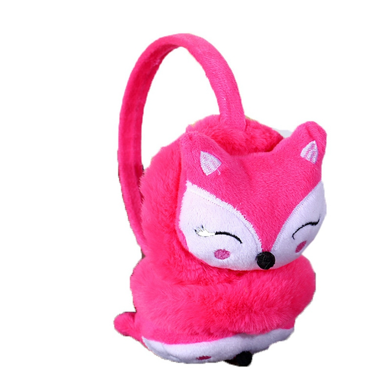 Multicolored Winter Warm Ear Muffle Female Cute Cartoon Fox Thickened Plush Children Ears Cover Parents' Children Ear Protectors