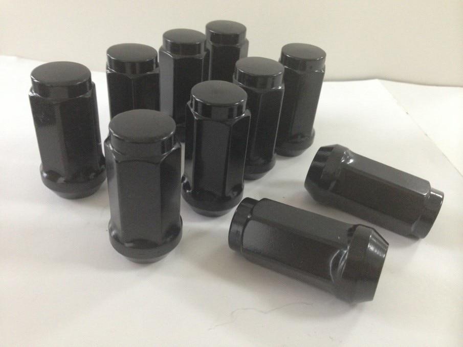 LUG NUTS LONG BULGE ACORN 9/16 XL CHROME BLACK 32 PIECES FOR GMC K25/K2500 Pickup 1967-1974