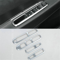 Car styling Car Accessories ABS Chrome Trim interior armrest decoration For Peugeot 3008 2013 2014 2015 2016 2017 2018