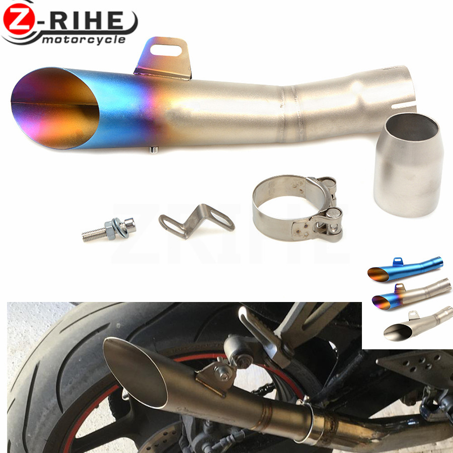 for Universal 36-51mm Motorcycle Accessories cnc Exhaust Stainless Steel Motorbike Exhaust Pipe For Honda CBR500R CB500F CB500X universal 36 51mm motorcycle accessories cnc exhaust stainless steel motorbike exhaust pipe for ktm 690 enduro r 690 smc 2014 20
