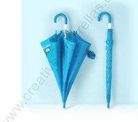 94cm auto open environment protection 8mm steel shaft & fiberglass ribs white safe runner children umbrella kid cartoon parasol