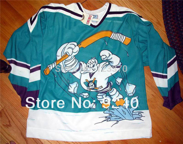 adbb9d91c5f20 blank/custom 95-96 Throwback Anaheim Mighty Ducks Wild Wing Alternate  Jersey cheap authentic sports jerseys sewn any NO./Name