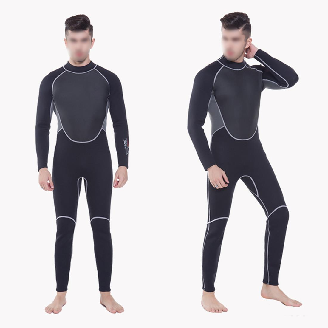 KEEP DIVING Professional 3MM Neoprene Wetsuit One Piece Full body For Men Scuba Dive Surfing Snorkeling