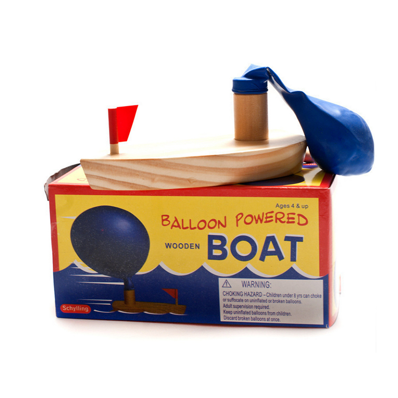 Balloon Power Boat Toys Wooden Bath Toys Gift Baby Bath Toy For Children