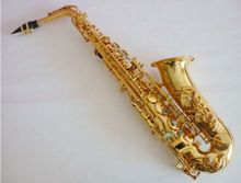 2017 neue SAX Salma E flat Altsaxophon instrument Geschnitzte doppel rippe Abalone snap Kostenloser versand