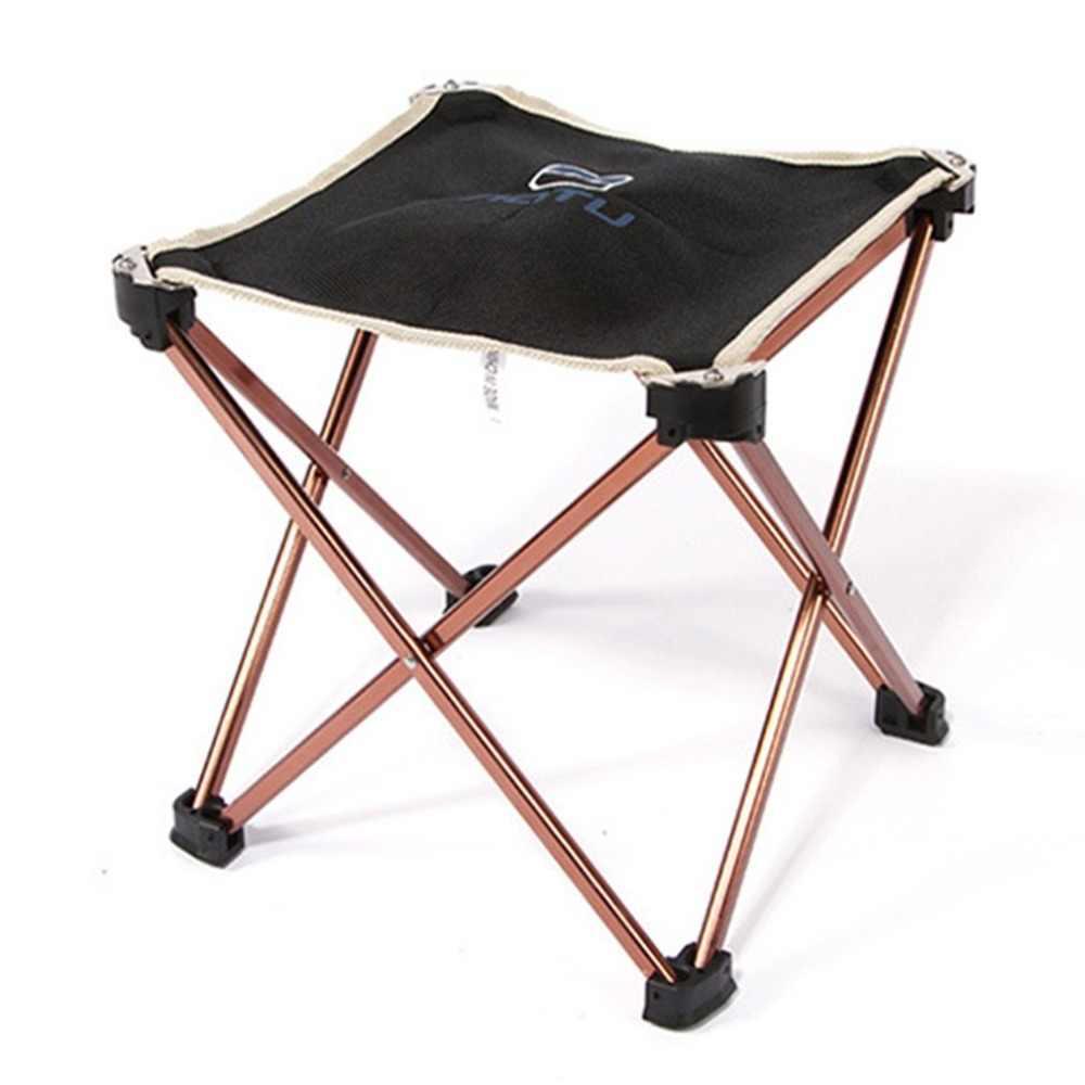 Сверхлегкий 7075 алюминий сплав квадратный стул складной Открытый сиденье стула Пикник принадлежности для шашлыков сад стул кемпинга