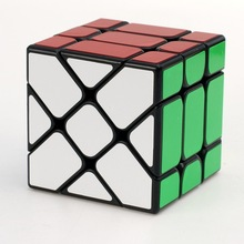 цены  3x3x3 Yongjun Square King Fisher Magic Cubes YJ Skew Plastic Speed Magic Cube Puzzle Cubes Learning & Educational Toys for Kids