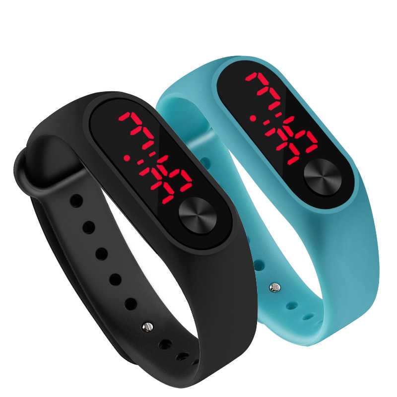 Fashion LED watch boys girls kids children students sport digital watch new mens womens touch screen silicone Running watches M2