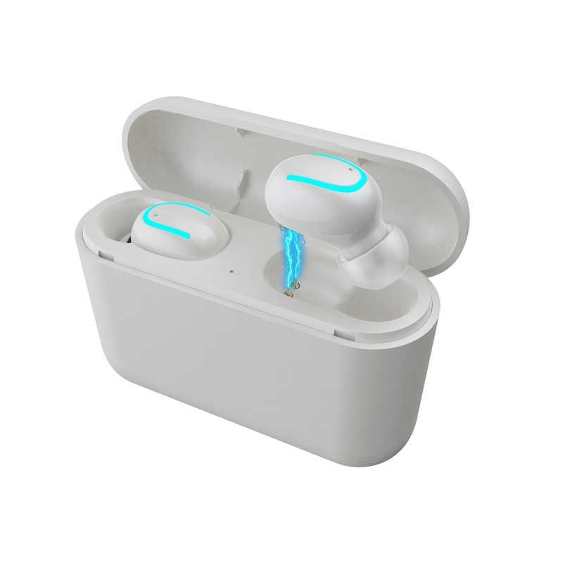 TWS ヘッドセットトゥーレワイヤレスイヤホン HBQ Q32 の Bluetooth 5.0 ヘッドセットマイクミニ Bluetooth インナーイヤー型コードレスイヤホン