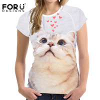 FORUDESIGNS-Kawaii-Ragdoll-Cat-Print-Casual-Women-T-Shirts-Summer-Breathable-Tops-Clothing-Novelty-Bodybuilding-Tee-Shirts-Lady-2