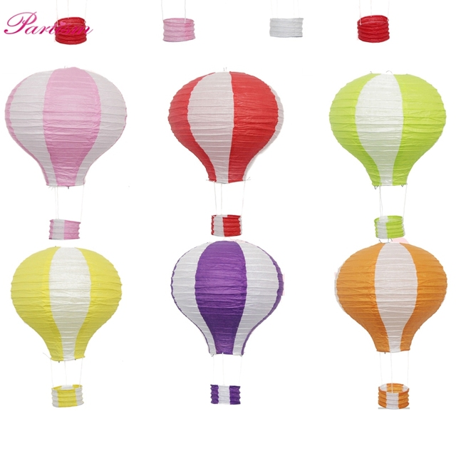 Hot!10inch/12inch Rainbow Paper Lantern Hot Air Balloon Sky Lanterns Home/Wedding/Birthday/Christmas Party Decoration Supplies