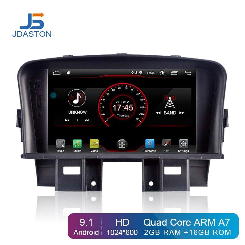 JDASTON Android 9.1 lecteur DVD de voiture pour Chevrolet Cruze 2008-2012 2013 2014 2 Din autoradio GPS Navigation multimédia stéréo WIFI
