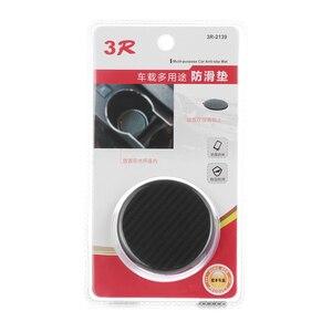 Image 3 - 2 pc silicone preto carro auto copo de água slot antiderrapante acessórios da esteira de fibra de carbono almofada protetora do carro acessórios interiores do carro