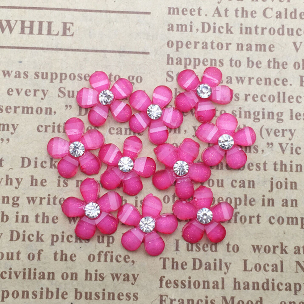 DIY 20pcs 10mm resin flowers flatback Scrapbooking for phone//wedding Crafts IJ