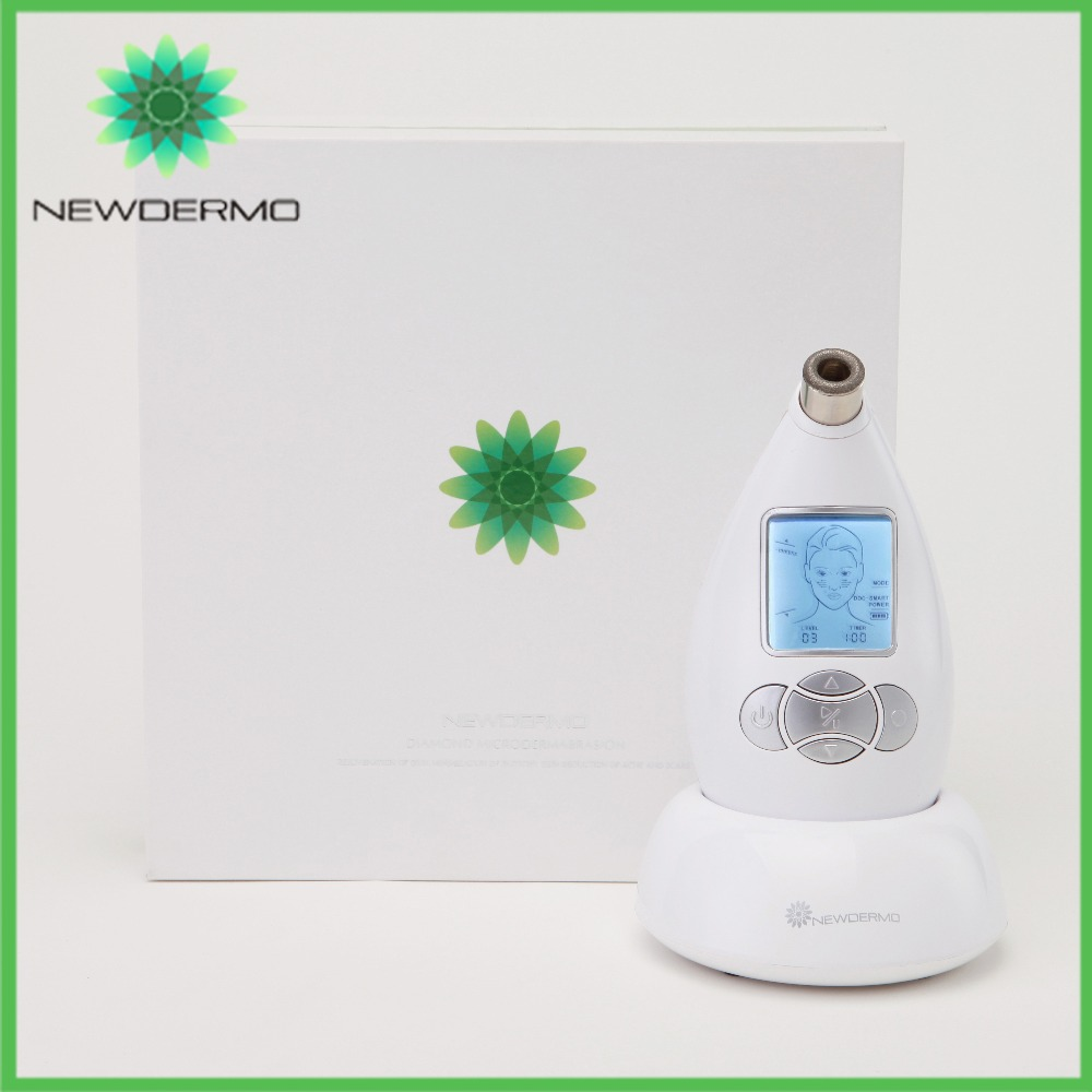 NEWDERMO 2017 Hot Sale Diamond Microdermabrasion Facial Care Tool Skin Peel Facial Massage white newdermo hot beauty instrument diamond peel microdermabrasion machine home face care massage free shipping