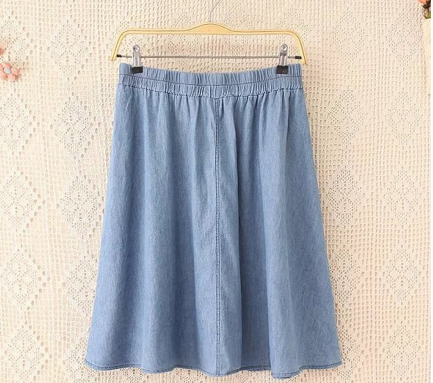 3xl lady soft denim skirt big size XXL 2016 women plus size denim ...