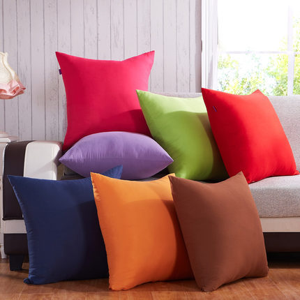 Fashion simple solid color sofa cushions bed super soft for Best soft bed pillows
