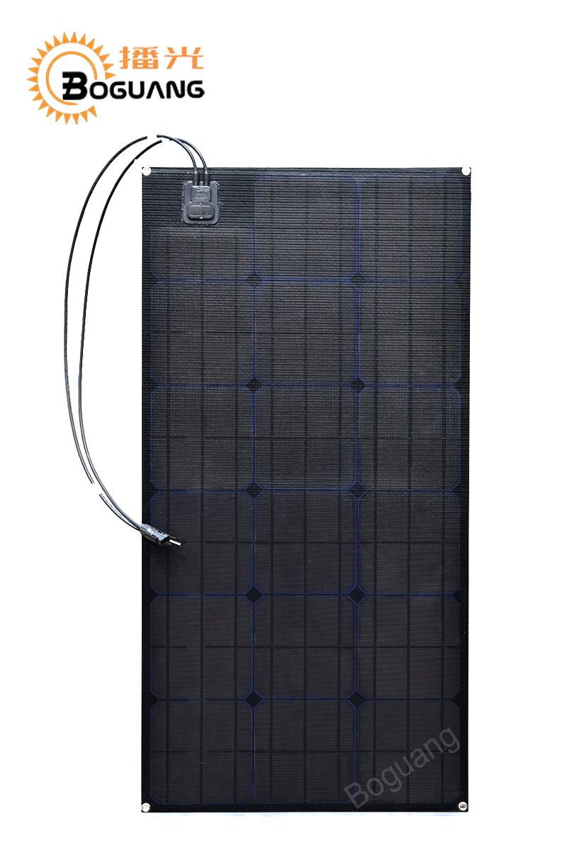 Connecteur monocristallin MC4 de module de carte PCB de cellule de silicium d'etfe de panneau solaire de Boguang 80 w pour la puissance de yacht de la voiture 12 v voyant LED de batterie RV